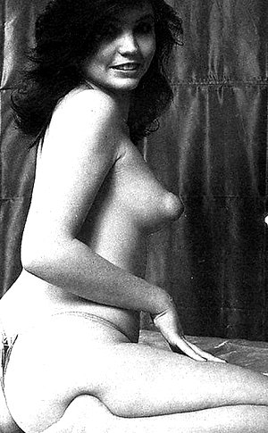Some vintage european porn babes showing their big puffy nipples