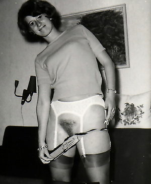 Vintage classic mature porn ladies in black stockings