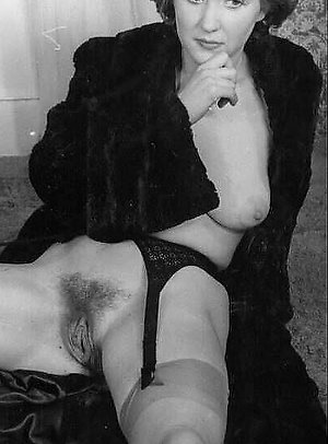 vintage erotica lingerie lady in fur elegant exhibit her hairy treasure